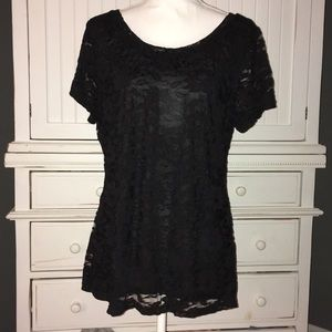 Banana Republic lace dressy top